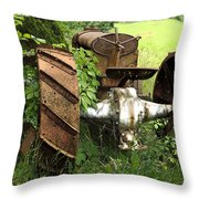 Rusty Tractor 1  Throw Pillow