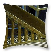 Rusty Triangle Throw Pillow