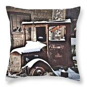 Rusty Truck Throw Pillow