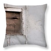 Rusty Vent Face Throw Pillow