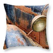 Rusty Vintage Automobile Throw Pillow
