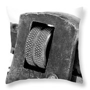 Rusty Vintage Pipe Wench Throw Pillow