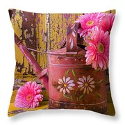 Rusty Watering Can Throw Pillow