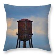 Rusty Watertower Throw Pillow