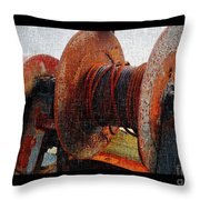 Rusty Winch  Throw Pillow