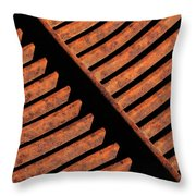 Rusy Grate Throw Pillow