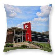 Rutgers Visitor Center Throw Pillow