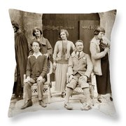 Ruth And Edward Kuster Theatre Of The Golden Bough 1924 Throw Pillow