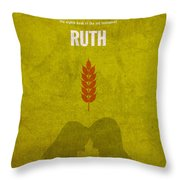 Ruth Books Of The Bible Series Old Testament Minimal Poster Art Number 8 Throw Pillow