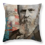 Rutherford B. Hayes Throw Pillow