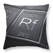 Rutherfordium Chemical Element Throw Pillow