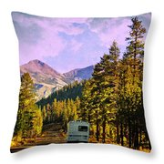 Rv And See America Throw Pillow