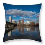 Rva Cityscape Throw Pillow