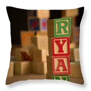 Ryan - Alphabet Blocks Throw Pillow