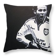 Ryan Giggs - Manchester United Fc Throw Pillow
