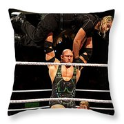 Ryback And Shield Throw Pillow