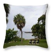 Ryckman Park In Melbourne Beach Florida Throw Pillow by Allan  Hughes