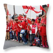 Rye Olympic Torch Relay Throw Pillow