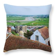 Rye Roofs Throw Pillow
