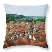Rye Town Roofs Throw Pillow