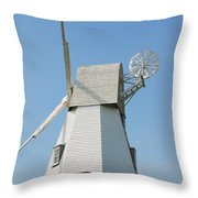 Rye Windmill Throw Pillow