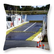 Ryer And Grand Island Ferry Throw Pillow