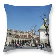 Rynek Glowny Krakow Throw Pillow