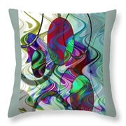 Rythem Of Change Throw Pillow