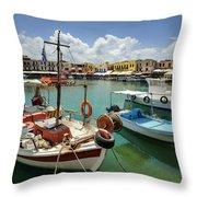 Rythemno Greece Throw Pillow