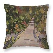 S. Dyer Neck Rd. - Art By Bill Tomsa Throw Pillow