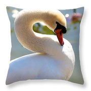 S Is For Swan Throw Pillow