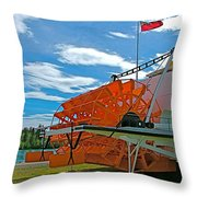 S S Klondike On Yukon River In Whitehorse-yt Throw Pillow