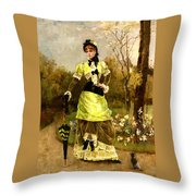 Sa Majeste La Parisienne Throw Pillow