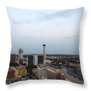 Sa Skyline Go Spurs Go 2013 Throw Pillow