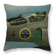 Saab Viggen Gruppo 4 Cockpit Throw Pillow