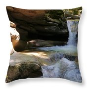 Sabbaday Falls Gorge Throw Pillow