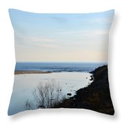 Sable Meets Lake Michigan Throw Pillow