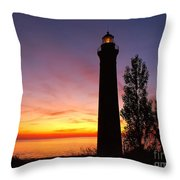 Sable Point Sunset Throw Pillow