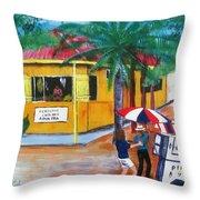Sabor A Puerto Rico Throw Pillow