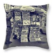 Sabrett Vendor New York City Throw Pillow