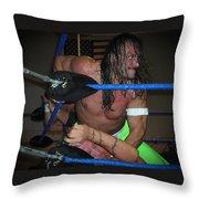 Sabu Beating Sandman Throw Pillow