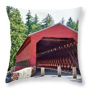 Sachs Covered Bridge 4 Throw Pillow
