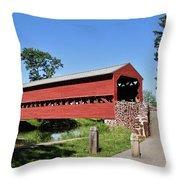 Sachs Covered Bridge Throw Pillow
