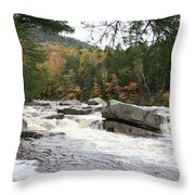 Saco River Rapids North Conway I Throw Pillow