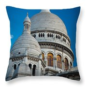 Sacre-coeur And Moon Throw Pillow