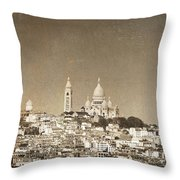 Sacre Coeur Basilica Of Montmartre In Paris Throw Pillow