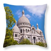 Sacre Coeur Basilica Paris France Throw Pillow