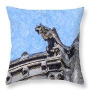 Sacre Coeur Gargoyle Throw Pillow