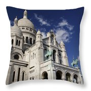 Sacre Coeur Paris Throw Pillow