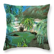 Sacred Cenote At Chichen Itza Throw Pillow